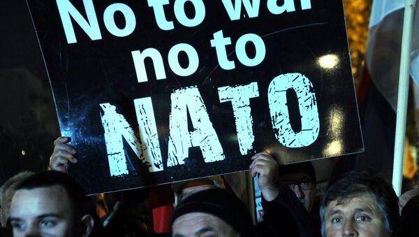Protestní akce proti NATO - Sputnik Česká republika