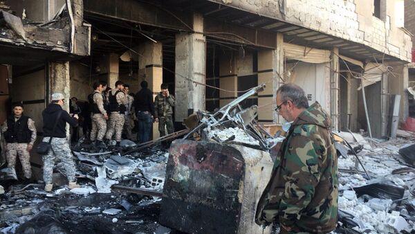 Teroristický útok v Damašku - Sputnik Česká republika