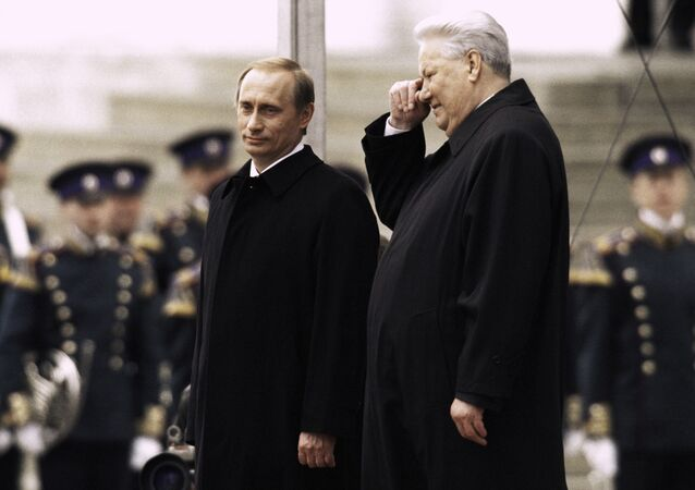Boris Jelcin a Vladimír Putin