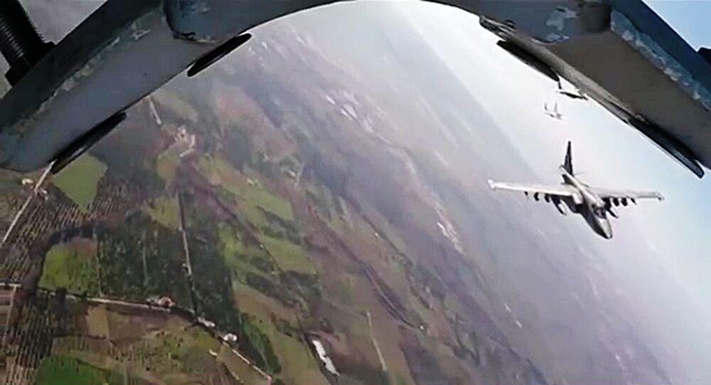 Bojový let Su-25 a MiG-29 v Sýrii