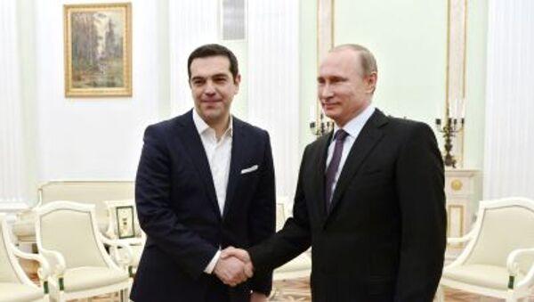 Řecký premiér Alexis Tsipras a ruský prezident Vladimir Putin - Sputnik Česká republika