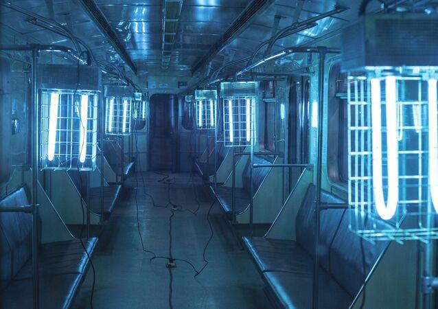 Dezinfekce vozů moskevského metra