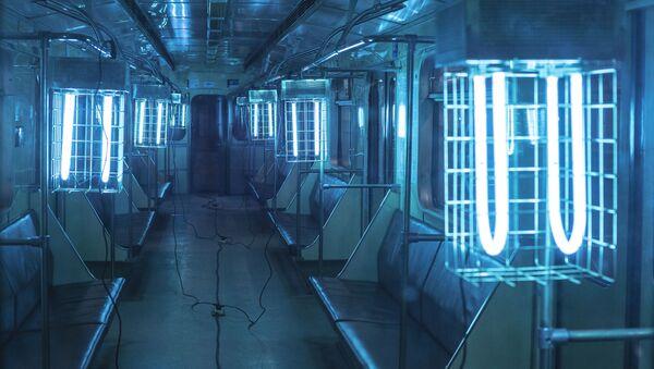 Dezinfekce vozů moskevského metra - Sputnik Česká republika