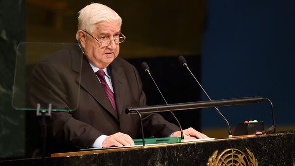 Syrský ministr zahraničí Valíd Muallem - Sputnik Česká republika