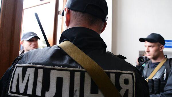 Police officers of the Ukrainian Interior Ministry - Sputnik Česká republika