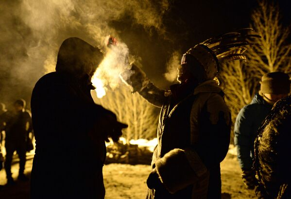 Šamani oslavují svátek Šagaa v Tuvě - Sputnik Česká republika