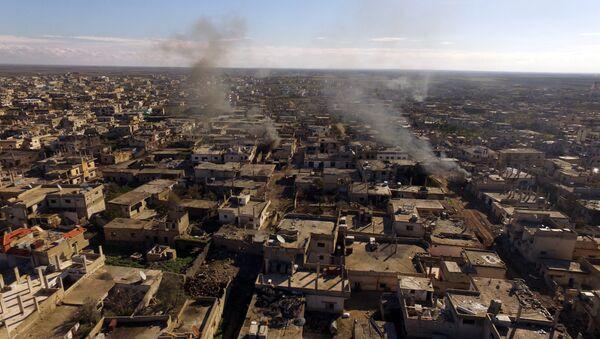 Město Šejch-Miskin osvobozené od teroristů IS v syrské provincii Dar'á - Sputnik Česká republika