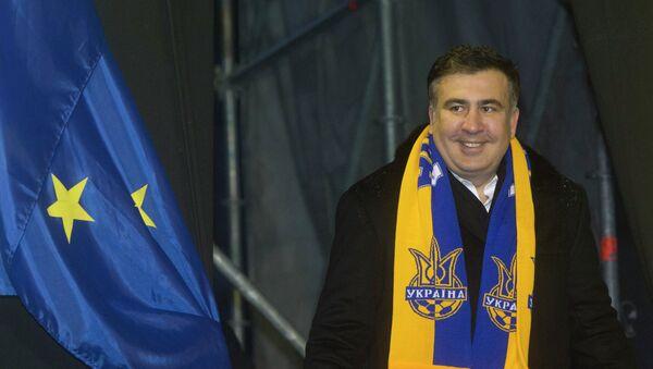 Hlava Oděské oblastní správy a bývalý gruzínský prezident Michail Saakašvili - Sputnik Česká republika