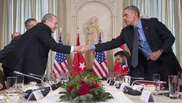 Recep Tayyip Erdogan a Barack Obama - Sputnik Česká republika