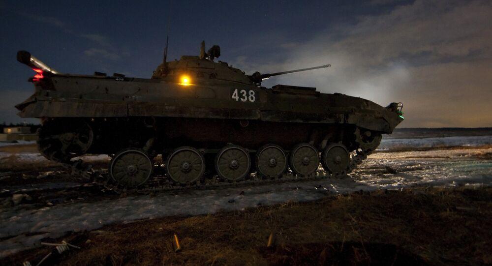 Cvičení 4. gardové Kantemirovské tankové divize