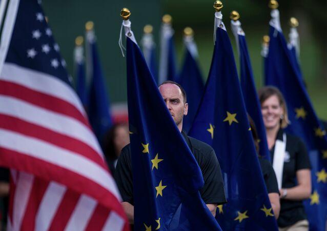 Vlajky USA a EU