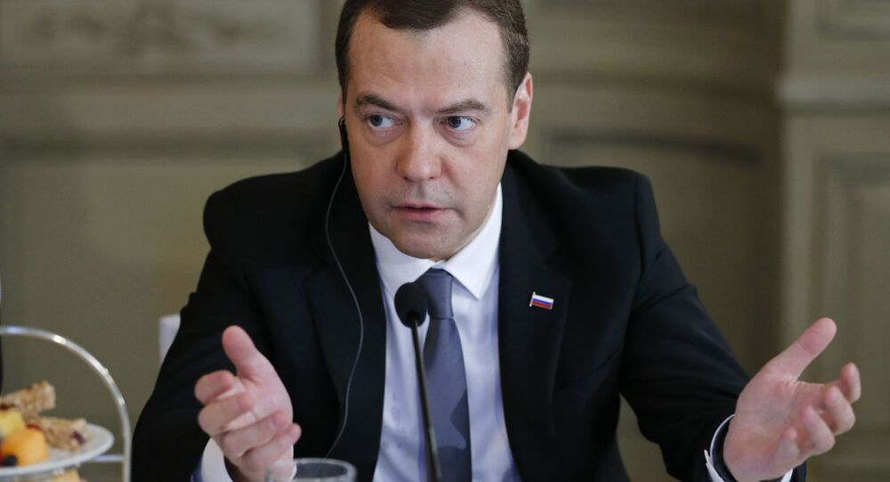 Předseda vlady RF Dmitrij Medvěděv