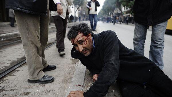 Nepokoje v Tunisku během arabského jara - Sputnik Česká republika
