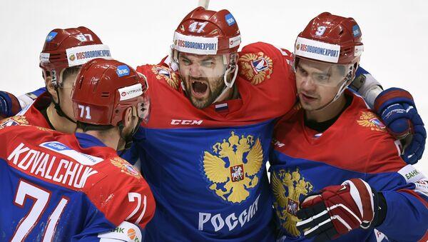 Ruská hokejová reprezentace zvítězila nad Čechy v zápase Evropského turnaje - Sputnik Česká republika