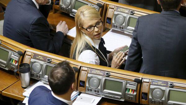 Vedoucí frakce Baťkivščina Julija Tymošenková - Sputnik Česká republika