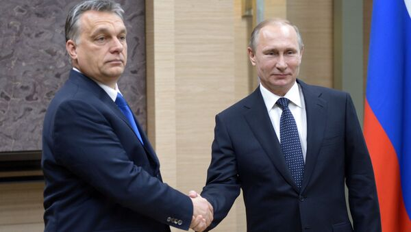 Maďarský premiér Viktor Orbán a ruský prezident Vladimir Putin - Sputnik Česká republika