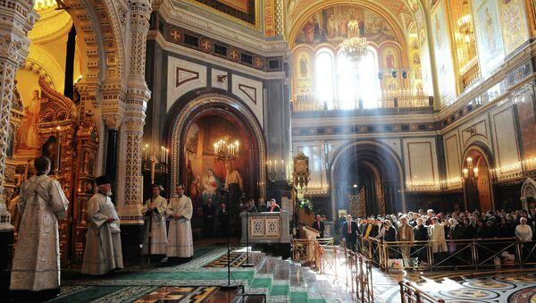 Velikonoce v Katedrále Krista Spasitele v Moskvě - Sputnik Česká republika