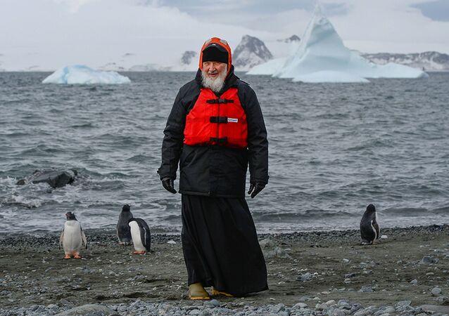 Návštěva patriarchy moskevského Kirilla v Antarktidě