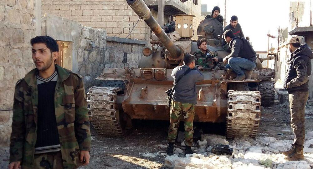 Syrská armáda u Aleppa