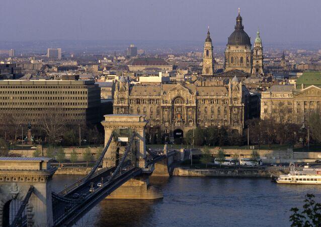 Pohled na město Budapešť
