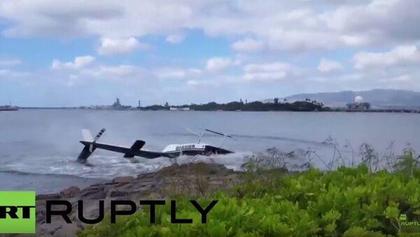 Pád vrtulníku v Pearl Harboru - Sputnik Česká republika