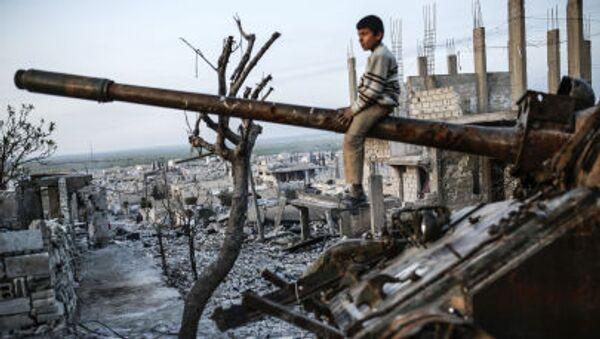 Kurdský kluk v Sýrii - Sputnik Česká republika