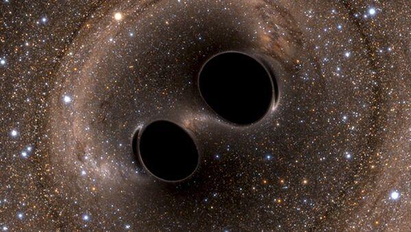 Gravitační vlny dvou černých děr. Ilustrační foto - Sputnik Česká republika