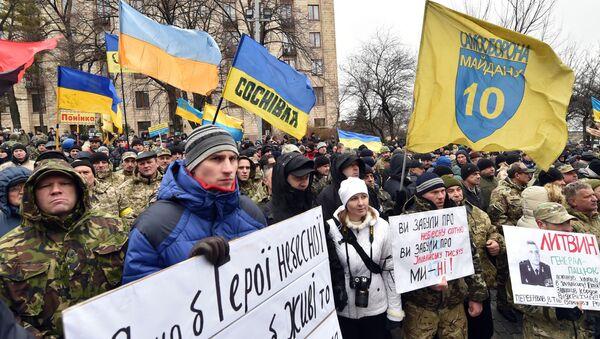 Mítink v Kyjevě, 20. února 2016 - Sputnik Česká republika