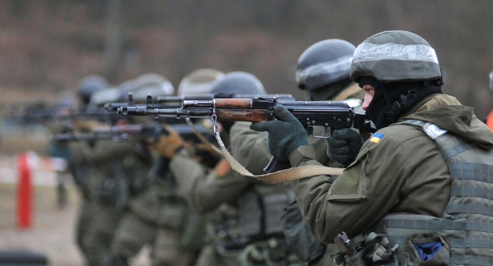 Příslušníci ukrajinské Národní gardy