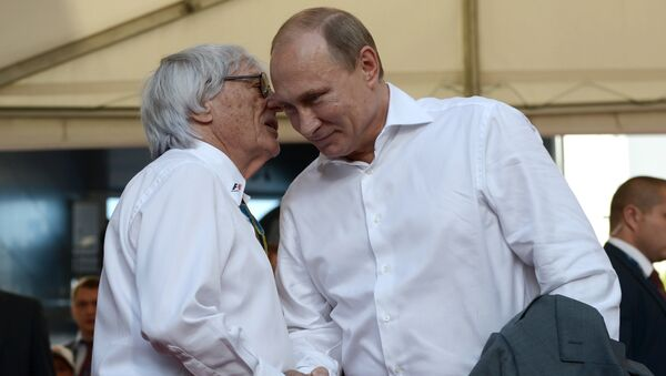 Bernie Ecclestone a Vladimir Putin - Sputnik Česká republika