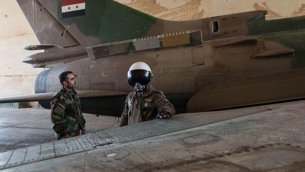 Základna syrského letectva v provincii Homs - Sputnik Česká republika