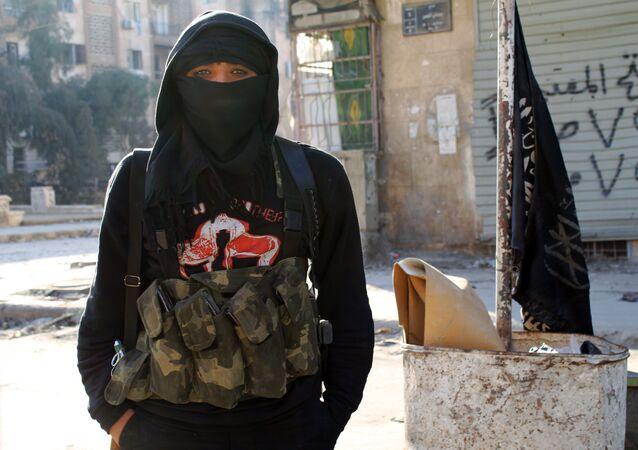 Příslušník Fronty an-Nusrá. Illustrační foto