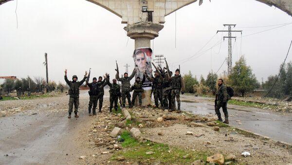 Syrští vojáci v provincii Daraa - Sputnik Česká republika