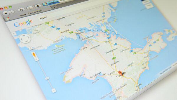 Krym na mapě Google Maps - Sputnik Česká republika