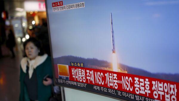 Přenos vypuštění balistické rakety KLDR - Sputnik Česká republika