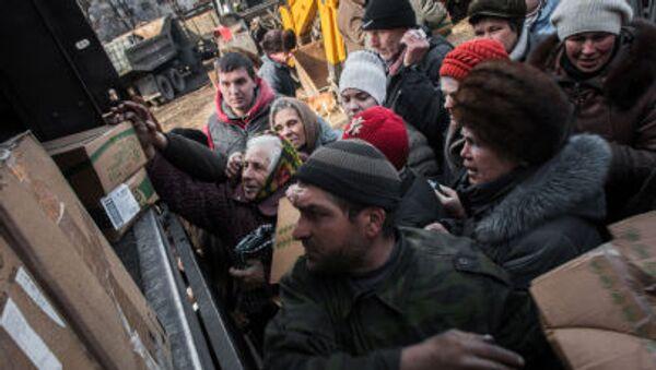 Humanitární pomoc pro obyvatele Doněcku - Sputnik Česká republika