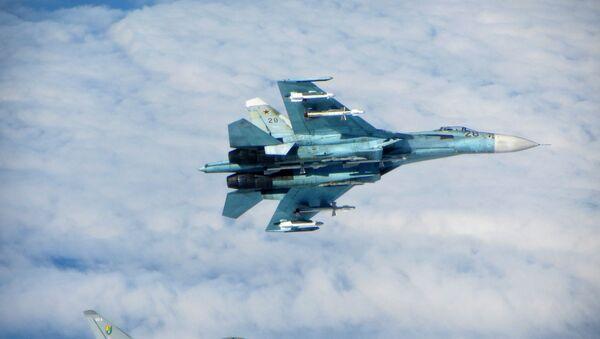 SU-27 a RAF Typhoon - Sputnik Česká republika