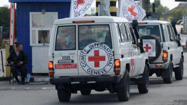 Auta Mezinárodního výboru Červeného kříže na Ukrajině - Sputnik Česká republika