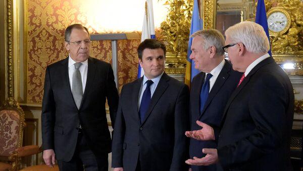 """Jednání ministrů zahraničí """"normandské čtyřky v Paříži - Sputnik Česká republika"""