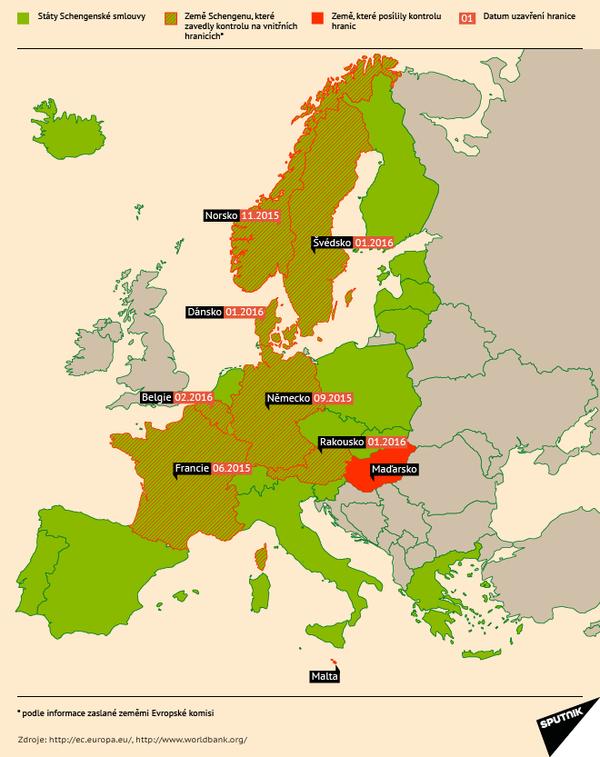 Jak se uzavírají hranice Schengenu - Sputnik Česká republika