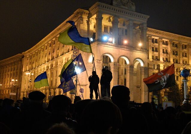 Výročí Euromajdanu v Kyjevě