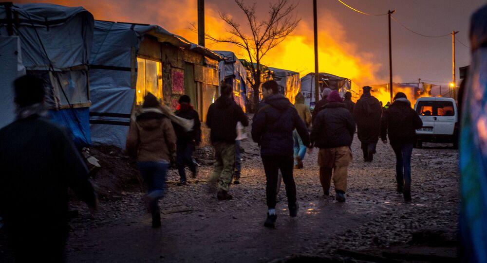 Migranti ve Francii. Ilustrační foto