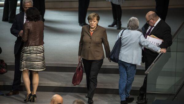 Angela Merkelová v Bundestagu - Sputnik Česká republika