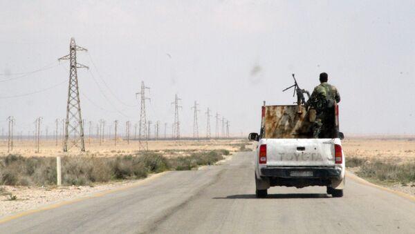 Syrští vojáci vedle syrského města Rakka - Sputnik Česká republika