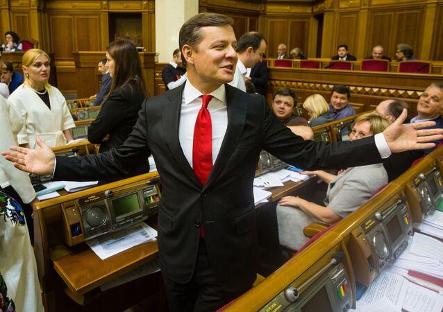 Vůdce ukrajinské Radikální strany Oleh Ljaško
