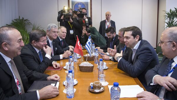 Summit EU-Turecko k migrační problematice v Bruselu. 7. března 2016 - Sputnik Česká republika