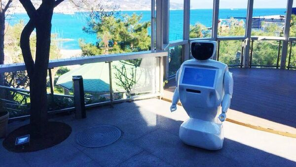 Robot-pomocník od ruské společnosti PromoBot - Sputnik Česká republika