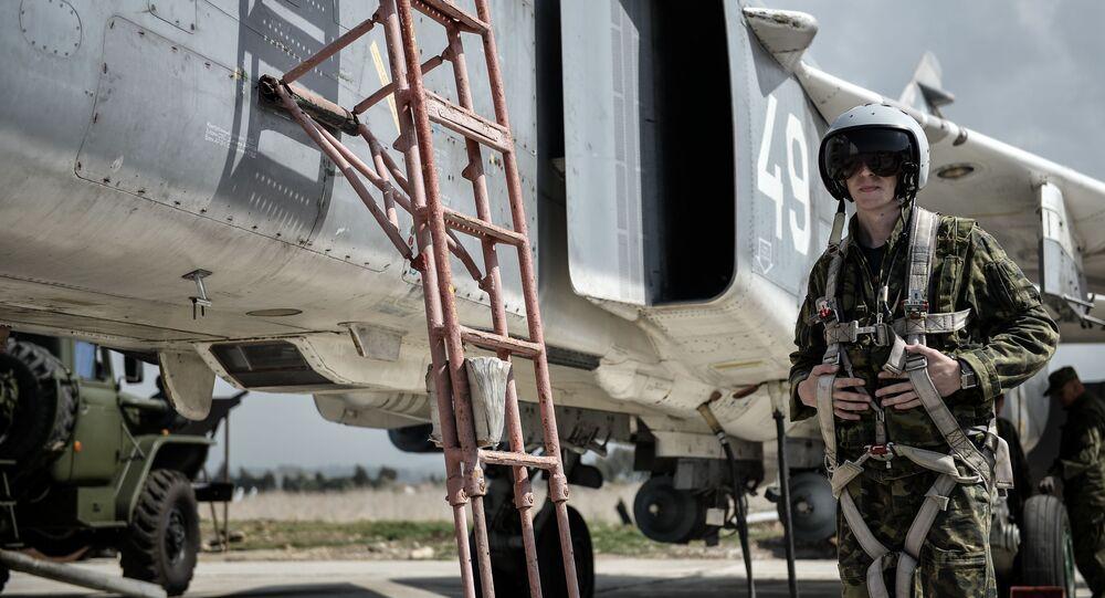 Ruský pilot na základně Hmeimim