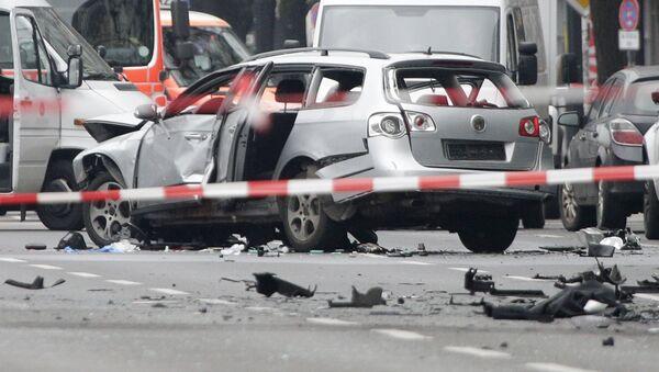 V Berlíně explodoval automobil, zřejmě naplněný výbušninou - Sputnik Česká republika