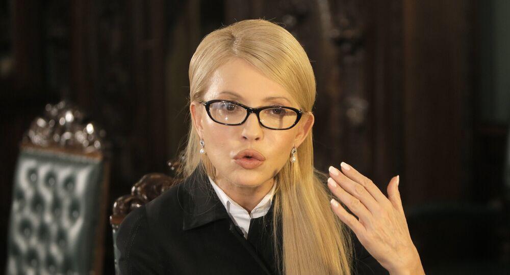 Předsedkyně frakce Otčina (Baťkivščyna) Julija Tymošenková